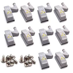 Antrader 10PCS LED Hinge Light Universal Under Cabinet Light