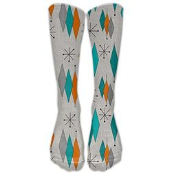 Hot Mid-Century Modern Diamond Compression Socks For Women A
