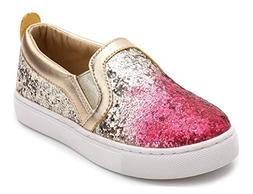 iDuoDuo Girl's Cute Sequins Low Top Casual Loafers Princess