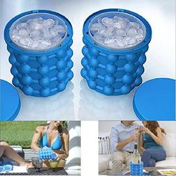 Ice Cream Makers - Ice Cube Cavity Silicone Tray Cubes Maker