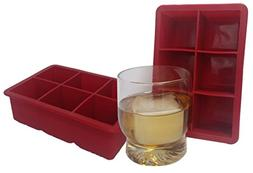 Big Chillers 2 Piece Ice Cube Tray Silicone Molds for Whiske
