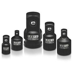 Impact Reducer & Adapter | 5pc Socket Wrench Set 1/4 3/8 1/2