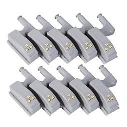 10Pcs Intelligent on Universal Cabinet Cupboard Hinge LED Li