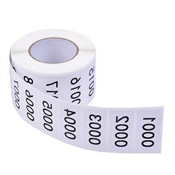 Inventory Labels - Consecutive Number Labels Inventory Stick