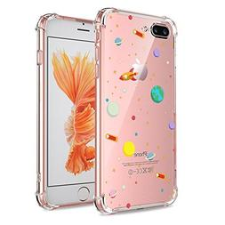 iPhone 7 Plus 8 Plus Case Clear, Crystal Clear with Design C