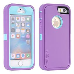 iPhone SE Case, Lordther   Hybrid Synthetic Rubber TPU Cover