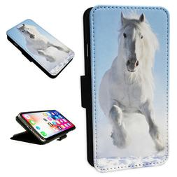 FOR IPHONE X / XS - Horse - Flip Phone Case Wallet Cover - U