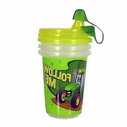John Deere Take & Toss Sippy Cup, 3 Pack with Bonus Travel C