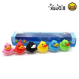 Kids Baby Bath Toys Squeaky Rubber Duck Shower Car Decoratio
