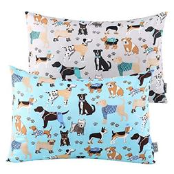 Kids Toddler Pillowcases UOMNY 2 Pack 100% Cotton Pillow Cov
