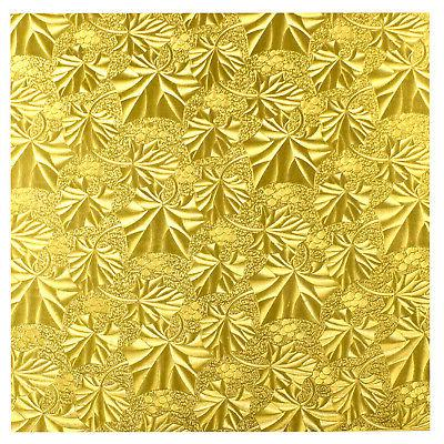 1 2 thick square gold cake fold