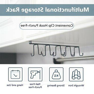 10Cup Hook Shelf Coffee Cup Holder Hook Kitchen