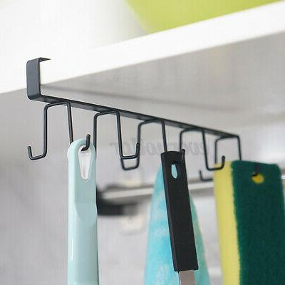 10Cup 6 Hook Shelf Coffee Cup Mug Holder Hanger Hook