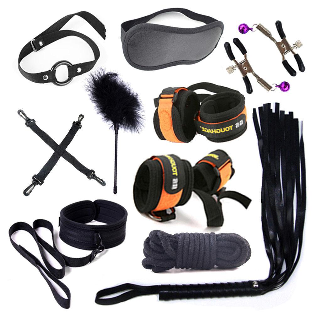 Cozy 10PC Kit Restraint Set BDSM Love Multicolo