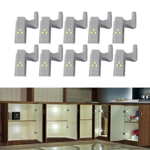 10pcs Under Cabinet LED Kitchen Closet Lamp White