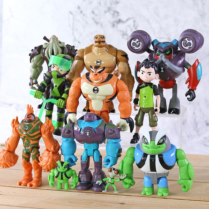 11pcs/set Tennyson Heatblast Humongousaur PVC Action Figures Gifts