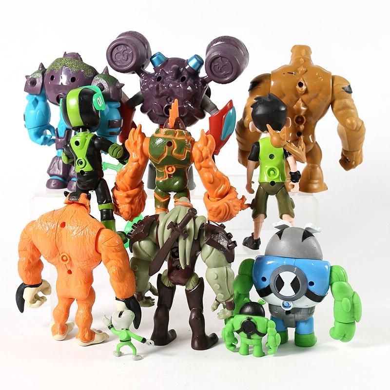 11pcs/set <font><b>10</b></font> Tennyson Matter Heatblast Humongousaur Action Toys Gifts