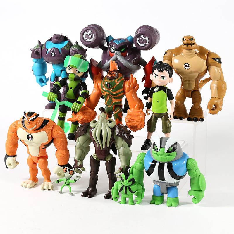 11pcs/set Humongousaur Rath Vilgax Action Figures <font><b>Kids</b></font> Gifts