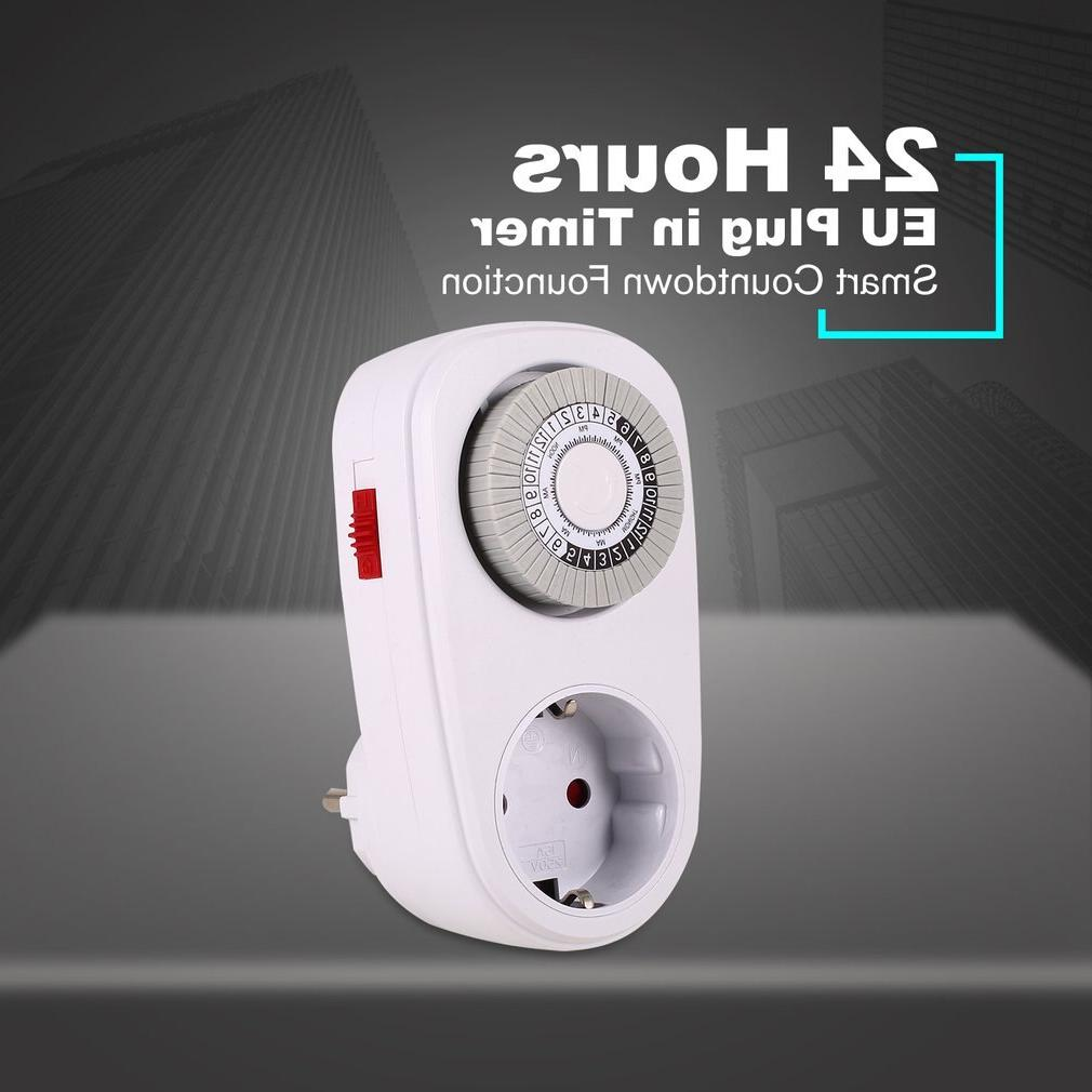 24 Hours Plug in Mechanical Programmable Timer Switch Socket <font><b>Indoor</b></font> Auto off