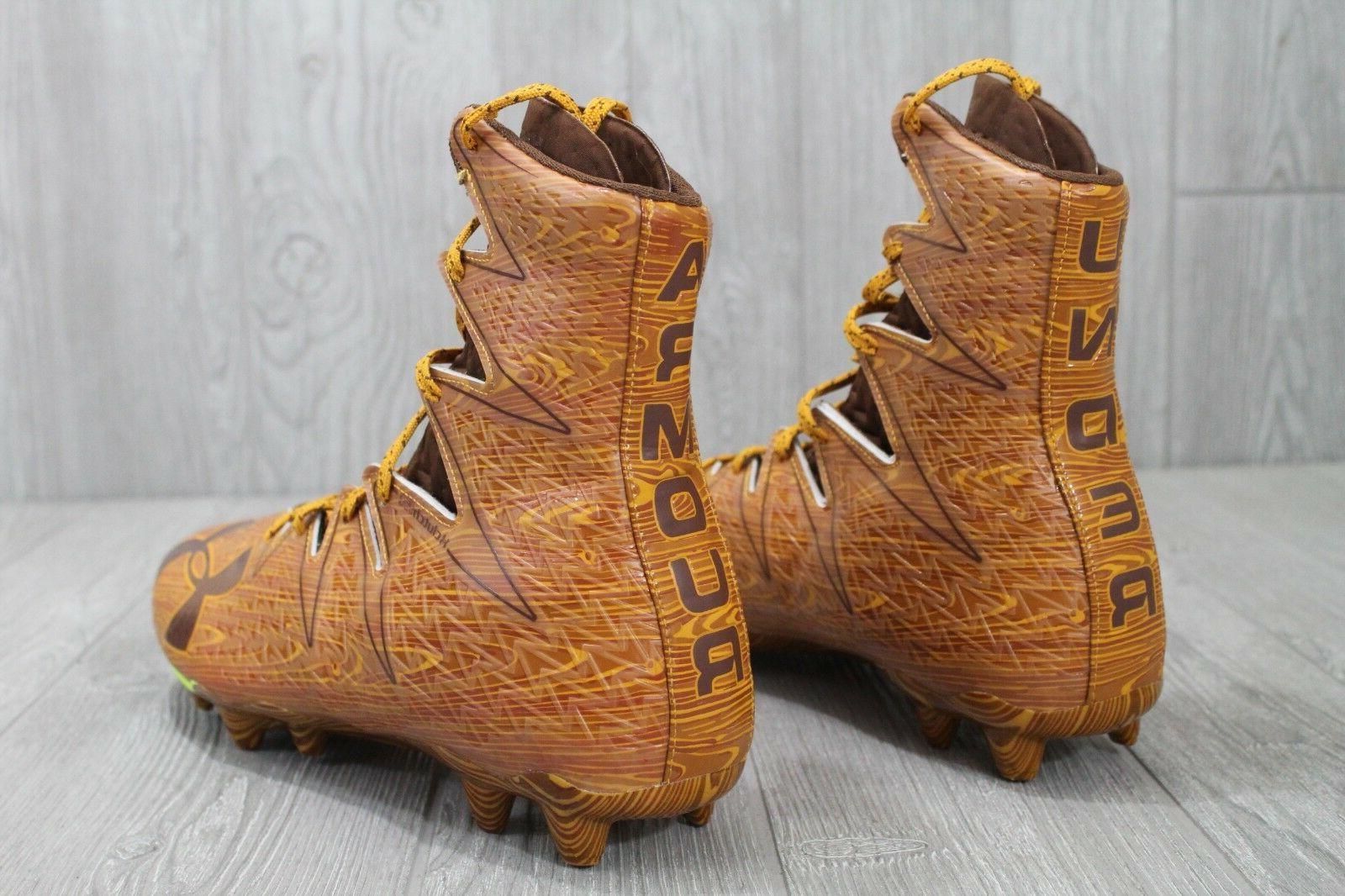 26 Highlight Wood Clutch Molded Football Cleats Mens 10.5-12