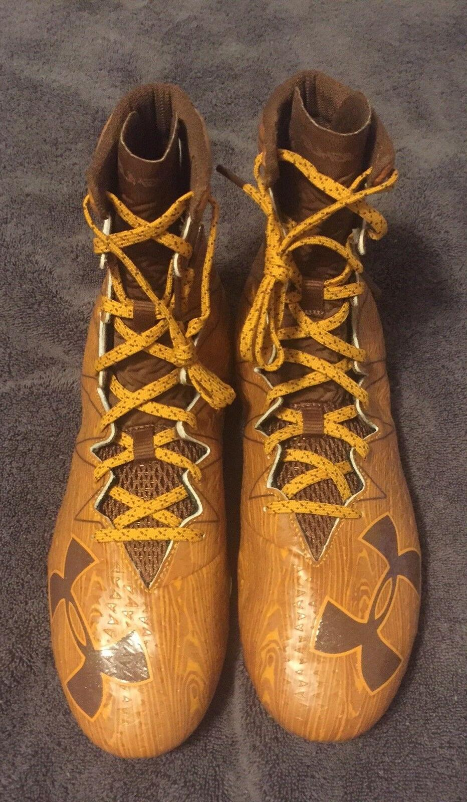 29 UNDER Highlight Wood Molded Football Cleats 10