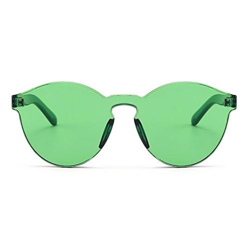 Armear Oversized One Piece Rimless Tinted Sunglasses Clear C