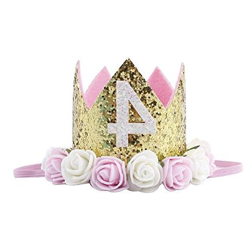 Baby Princess Tiara Crown, Baby Girls/Kids First Birthday Ha