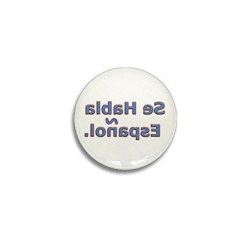 "CafePress - Se Habla Espanol. Mini Button - 1"" Round Mini Bu"