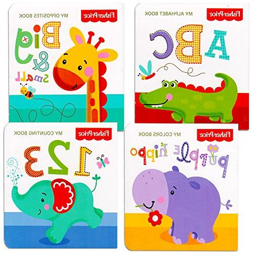 """Fisher Price """"My First Books"""" Set of 4 Baby Toddler Board Bo"""