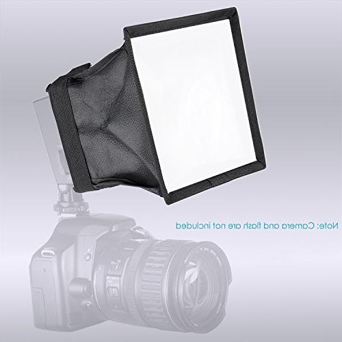 Neewer 5.9x6.7 inches/15x17 centimeters Softbox CN-126 and LED Light