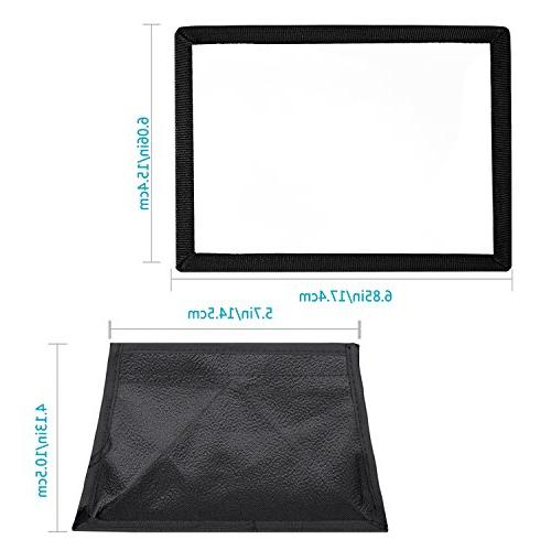 Neewer 5.9x6.7 inches/15x17 Camera Collapsible Diffuser Softbox CN-160, CN-126 and LED