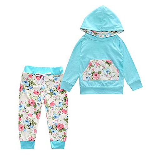 Rainlover Baby Girls Stripe Hoodie+ Stripe Pant Set Leggings