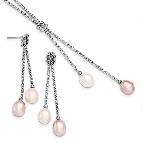 Sterling Silver Freshwater Cultured Pearl Knot 18 in. Neckla