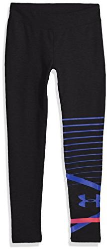 Under Armour Girls Finale Knit Leggings, Black , Youth X-Sma