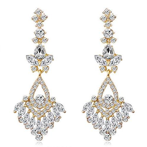 WIWIW Wedding Dangle Hollow Chandelier Earrings Bridal for P