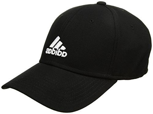 adidas Mens Rucker Stretch Fit Cap, Black/White, Large/X-Lar