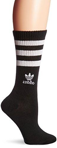 adidas Women's Originals Crew Sock, Medium, Black/White