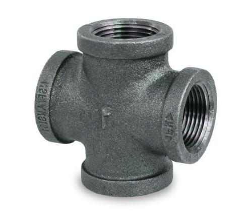 bmcr0012 black malleable cross fitting
