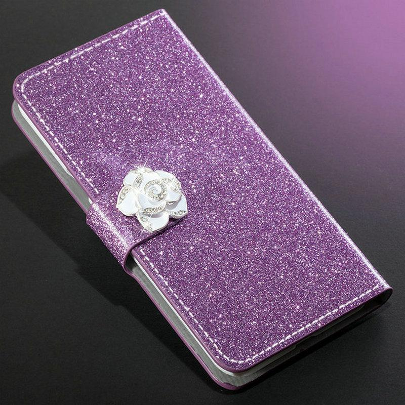 Case 7 8 Lite Book Flip Women Shiny Skin Case Cover With butterfly