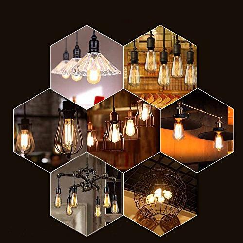E26 bulbs 40 Watt Dimmable Pendant with Antique Style Design for Wall Sconces, and Chandeliers Pack