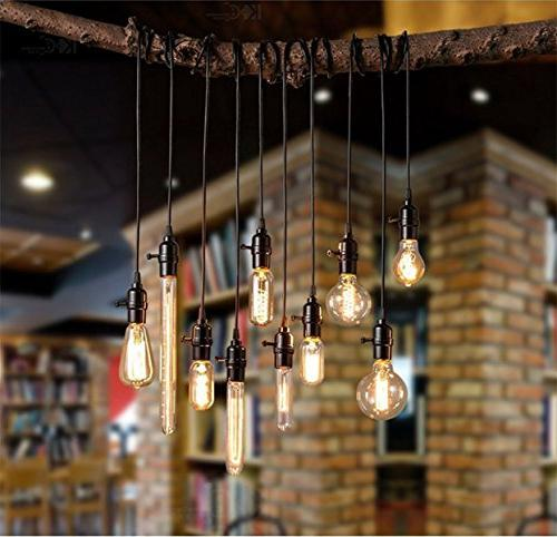 E26 Edison bulbs Watt Pendant Filament Light Bulbs with Antique Design for Wall Sconces, and Pack