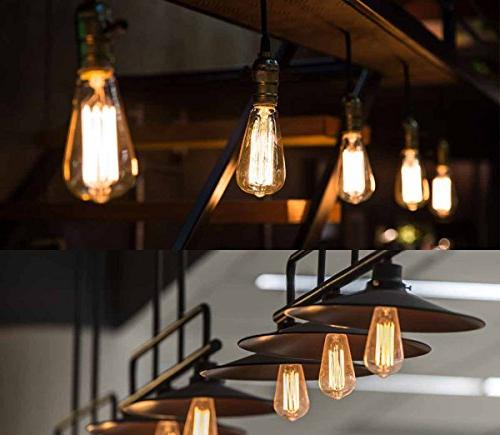 E26 40 Watt St64- Pendant Filament Bulbs with Wall Ceiling and Chandeliers -4