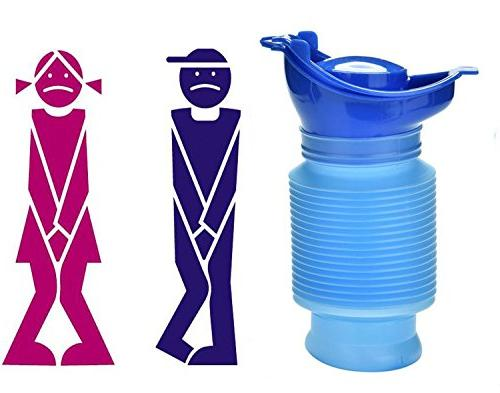 emergency reusable urinal portable shrinkable