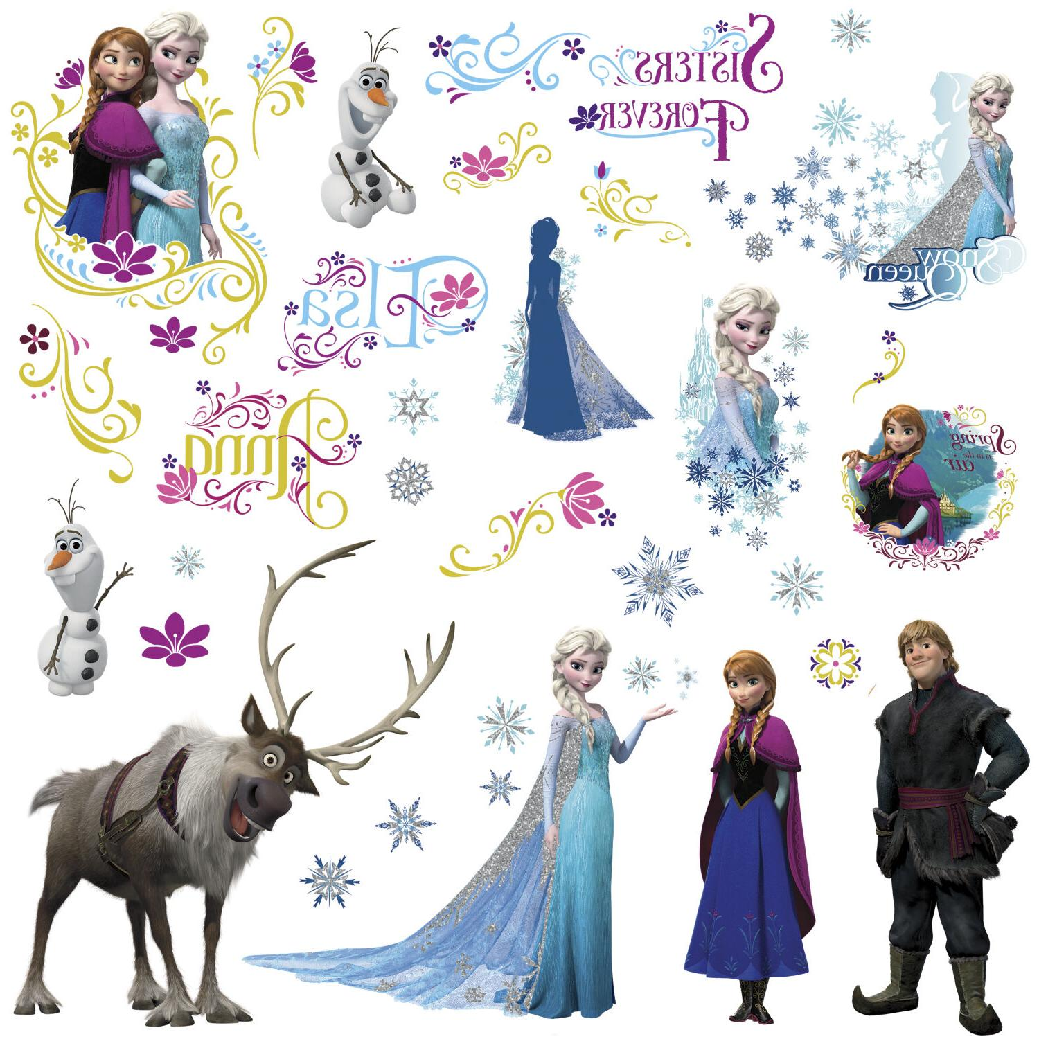 DISNEY FROZEN Movie Wall Decals New Bedroom Room