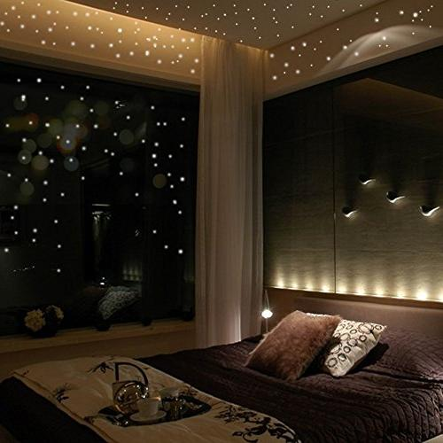 glow dark star wall stickers