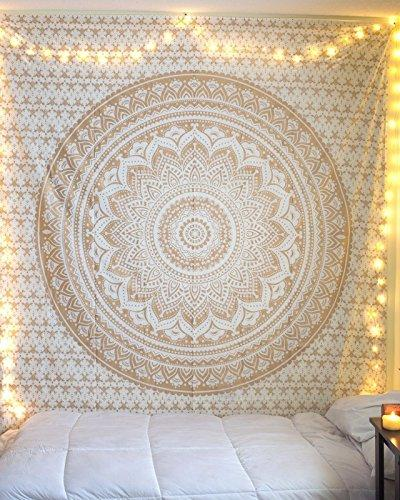 golden ombre tapestry gold