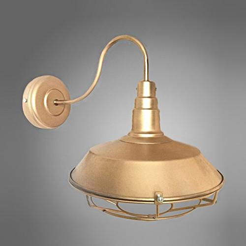 industrial gooseneck wall sconce finish