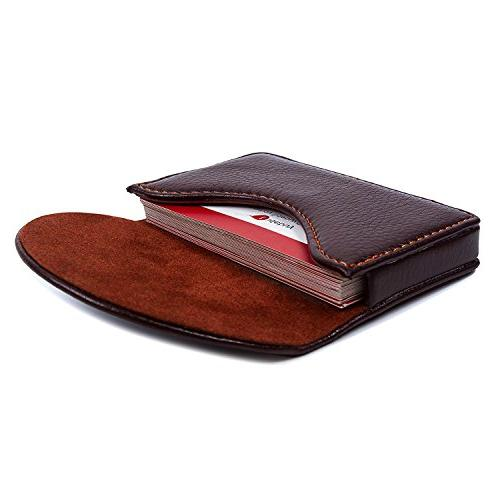 leather business name card holder