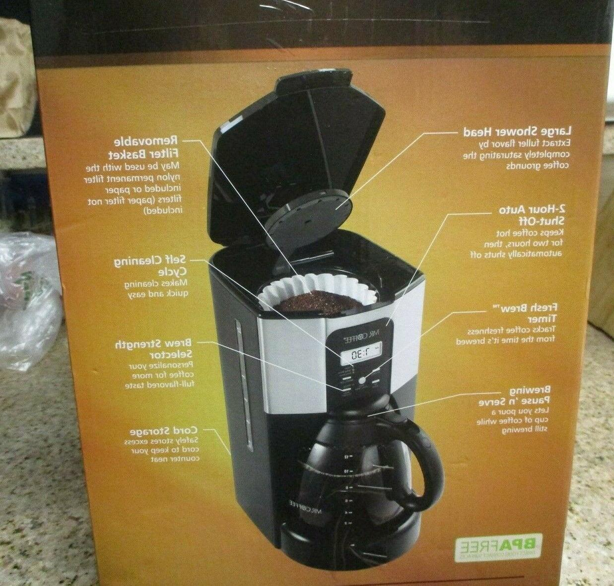 Mr coffee 12 cup programmable coffee maker brews in under new
