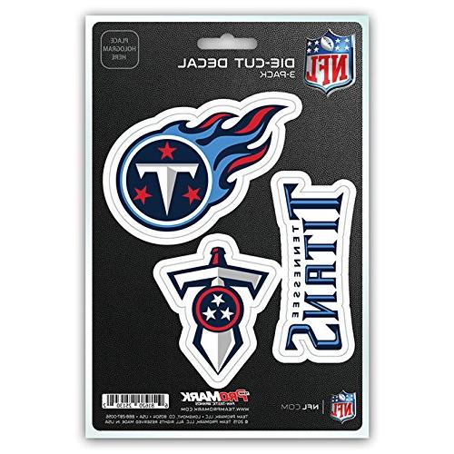 Team ProMark NFL Tennessee Titans Die-Cut Decal Sticker 3-Pa